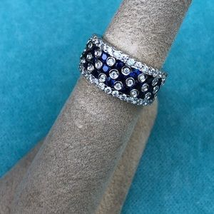 Jewelry - 18kt Sapphire and Diamond Band Style Ring